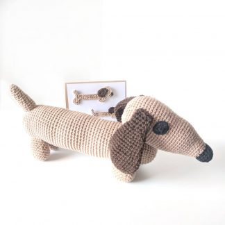 Taupe Sausage Dog Soft Toy