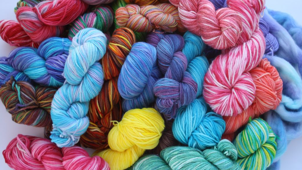 Selection of hand dyed yarns