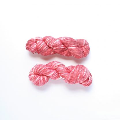 2 skeins of plum red hand dyed merino/bamboo yarn