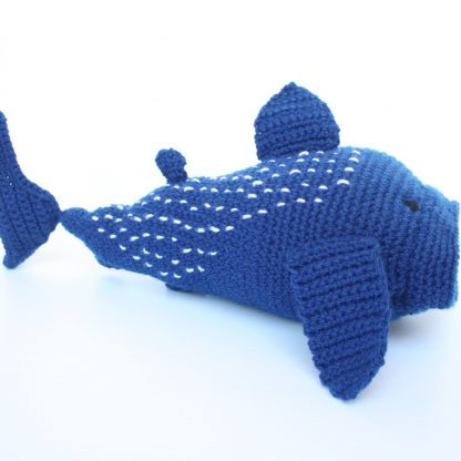 Whale Shark in Blue with Grey Mouth and White Dots on back
