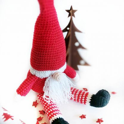 Santa gonk soft toy with tall hat