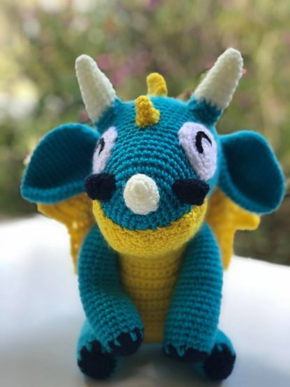 Orbit the blue and yellow dragon