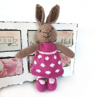 Blossom Bunny with pink dress