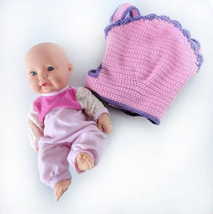Doll Carrier Pink with Purple Edging
